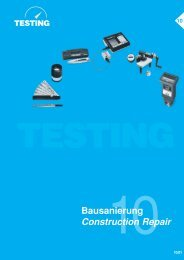 Bausanierung Construction Repair - Testing Equipment for ...