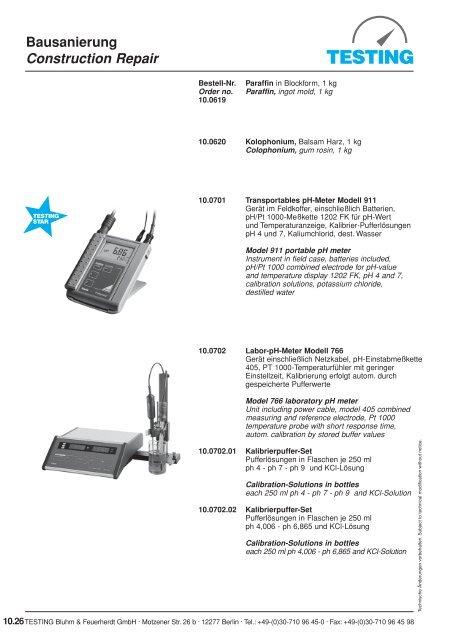 Bausanierung Construction Repair - Testing Equipment for ...