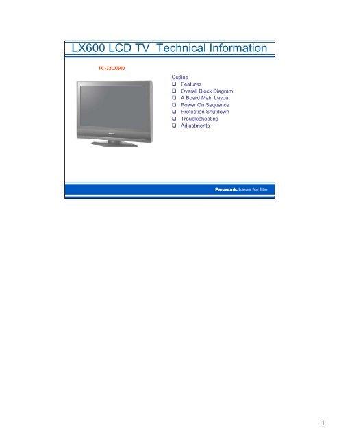 Panasonic_TC-32LX600   - TV & Monitor Service Manual Database