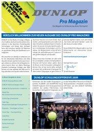 Pro Magazin - Dunlop Sport