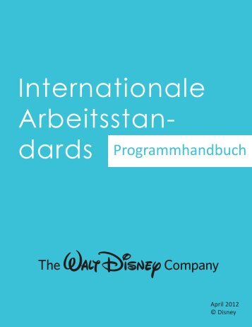 Internationalen Arbeitsstandards - The Walt Disney Company