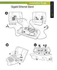 Gigabit Ethernet Stand Installation Guide