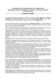 IV EDIZIONE FESTIVAL INTERNAZIONALE DEL ... - Imagofilm