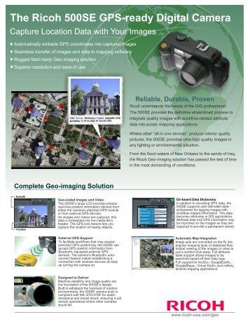 The Ricoh 500SE GPS-ready Digital Camera - Western Data Systems