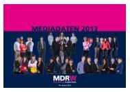 MEDIADATEN 2013 - MDR-Werbung
