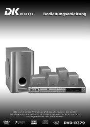 Das DVD Setup-Menü - Produktinfo.conrad.com