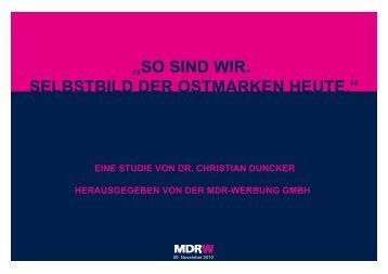Handout der Studie - MDR-Werbung