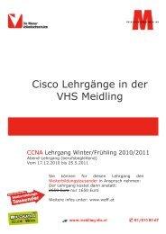 Cisco Lehrgänge in der VHS Meidling