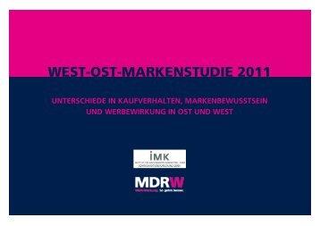 WEST-OST-MARKENSTUDIE 2011 -  MDR-Werbung