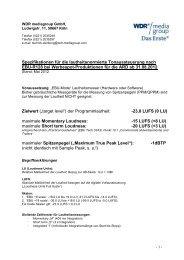 Technische Richtlinien - MDR-Werbung