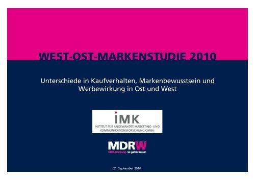 WEST-OST-MARKENSTUDIE 2010 - MDR-Werbung