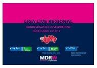 Präsentation LIGA LIVE REGIONAL - MDR-Werbung