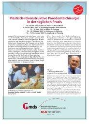 Plastisch-rekonstruktive Parodontalchirurgie in der ... - MDS-Dental