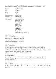 Protokoll zur Sitzung des FSR Geoinformation vom 18. Oktober 2011