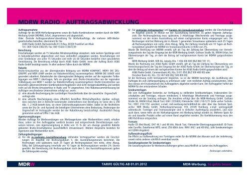MEDIADATEN 2012 - MDR-Werbung