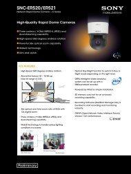 SNC-ER520/ER521 - Sony