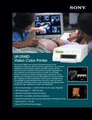 UP25MD Brochure - Sony