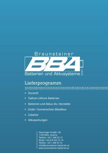 Lieferprogramm – Braunsteiner-Batterien.at - akkupack.at