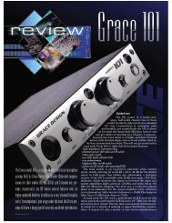 The Grace model 101 is a single-channel solid-state ... - Grace Design