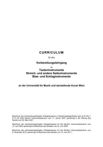 Studienplan - Universität für Musik und darstellende Kunst Wien