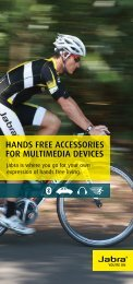 Hands free accessories for multimedia devices - Jabra