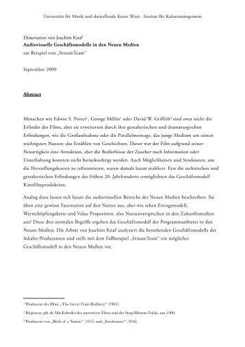 dissertation uni wien formatierung