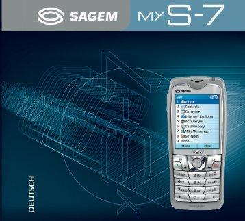 SAGEM myS-7 - Download Instructions Manuals