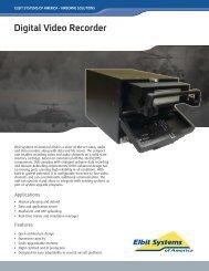 Digital Video Recorder Data Sheet - Elbit Systems of America