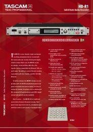 Tascam HD-R1 - AudioMaster