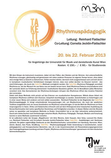 Rhythmuspädagogik - Universität für Musik und darstellende Kunst ...
