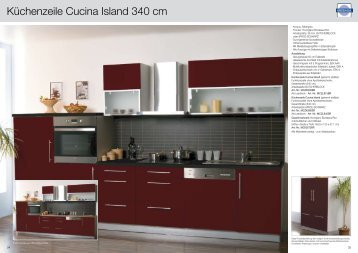 Küchenzeile Cucina Island 340 cm - Mebasa