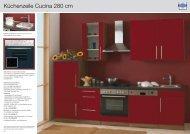 Küchenzeile Cucina 280 cm - Mebasa