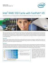 Intel® RAID: SSD Cache with FastPath* I/O - Intel® RAID Solutions
