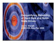 Demystifying Reliability of Hard Disk and Solid- State Drives - Idema
