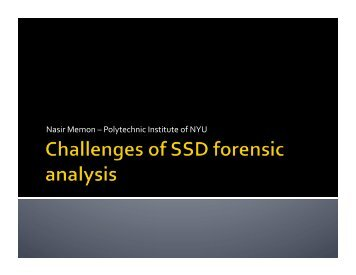 Challenges of SSD Forensic Analysis - Digital Assembly