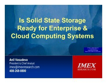 Is Solid State Storage Ready for Enterprise ... - IMEX Research
