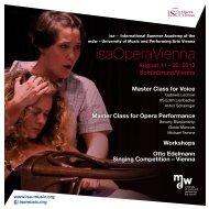 isaOperaVienna - Universität für Musik und darstellende Kunst Wien