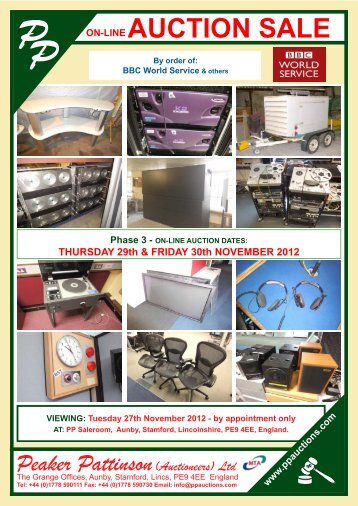 AUCTION SALE - Peaker Pattinson (Auctioneers) Ltd