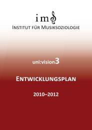 entwicklungsplan - Universität für Musik und darstellende Kunst Wien