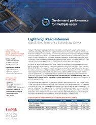 Lightning® Read-Intensive - SanDisk Technical Support