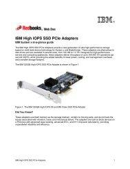 IBM High IOPS SSD PCIe Adapters - IBM Redbooks