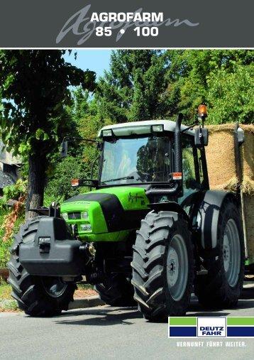 AGROFARM 85 • 100 - Deutz Traktoren und Erntetechnik