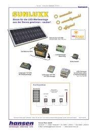 SUNLUXX - 12 Volt Solarakku - Hansen