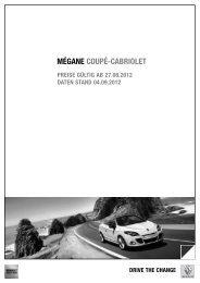 Preise Mégane Coupé-Cabriolet - Renault