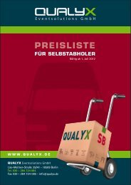 SB-Preise und Anfahrt - Qualyx