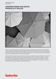 sonnenschirme und sockel parasols et socles - Interio