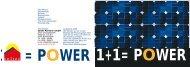 1+1= power 1+1= power - Soltec Solar