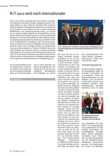 R+T 2012 wird noch internationaler - Rts-magazin.de