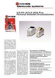 ICS-PZ LP/TLP 2824 Plus Personal Etiketten-Druckstationen