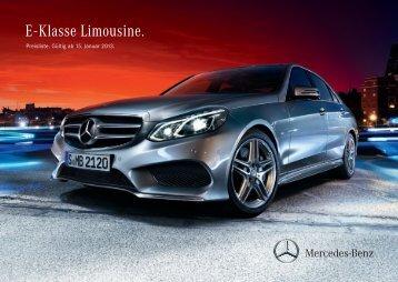 E - Klasse Limousine. - Mercedes-Benz Deutschland